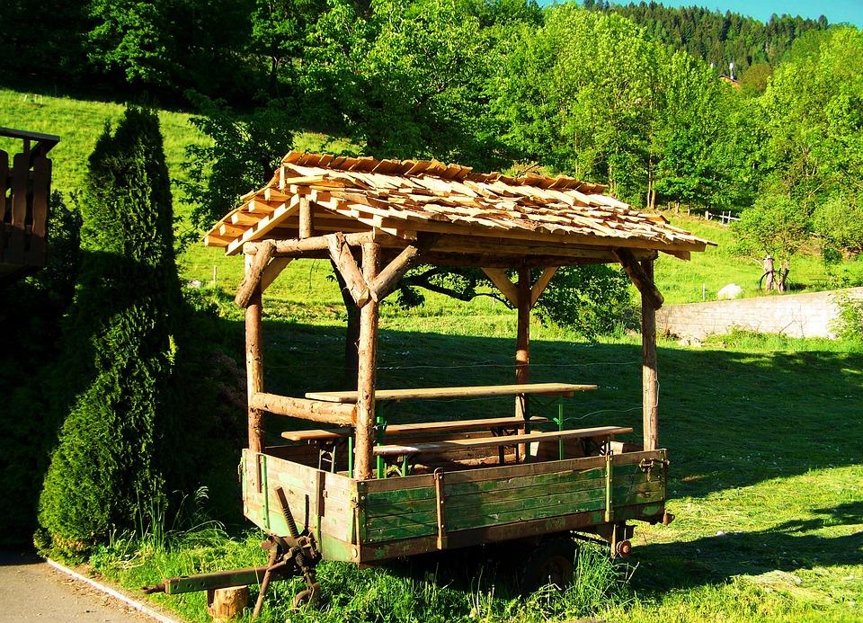 Trailer Picnic Table Garden Free Photo On Pixabay - Picnic table trailer