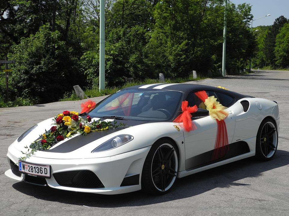 Hochzeitsauto Auto Ferrari Kostenloses Foto Auf Pixabay