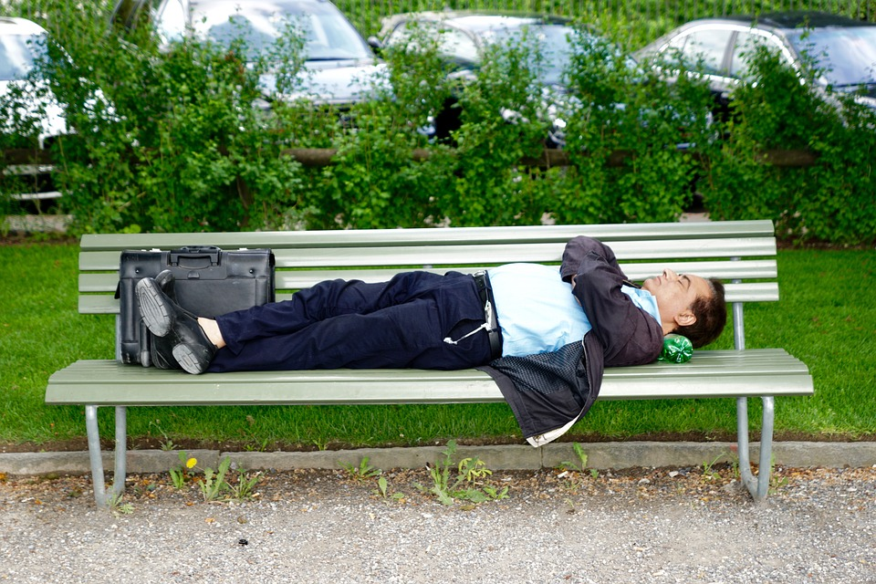 Park Bench Business Man Sleep Free Photo On Pixabay