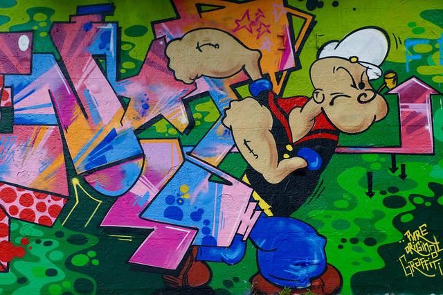 Free Photo Graffiti Popeye Wall Art Free Image On