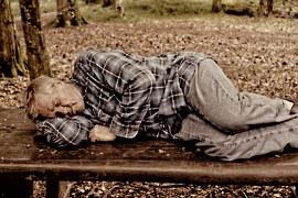 Man, Person, Sleep, Park Bench, Homeless