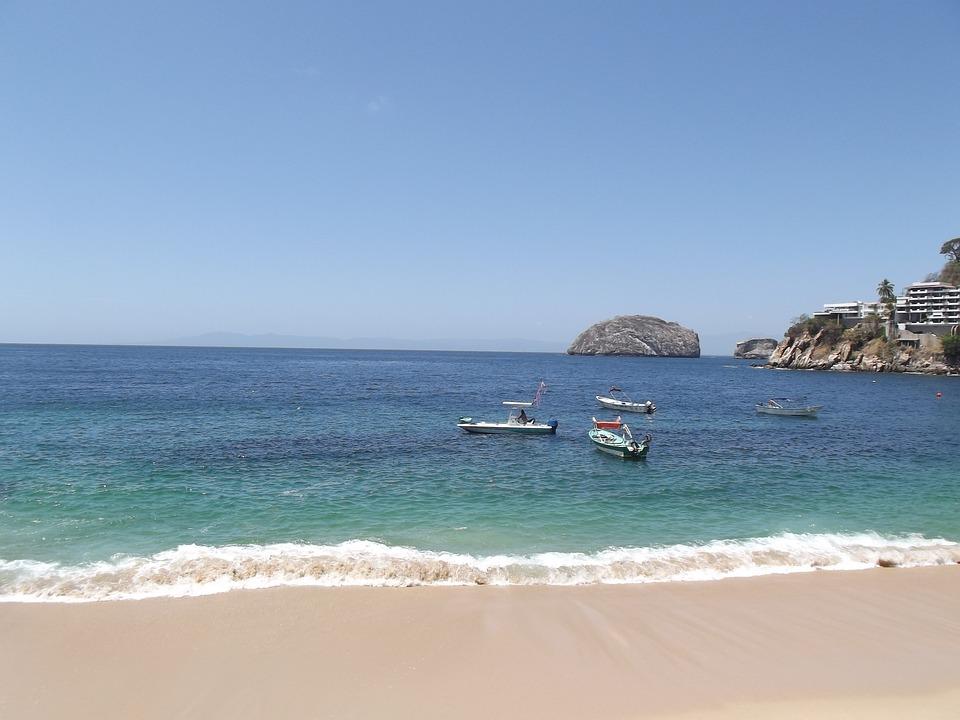 Beach, Sun, Sky, Puerto Vallarta, Sea