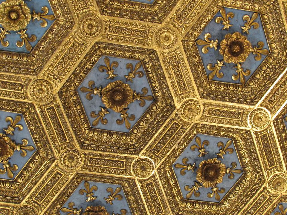 Gold Ceiling Museum Architecture Interior Classic