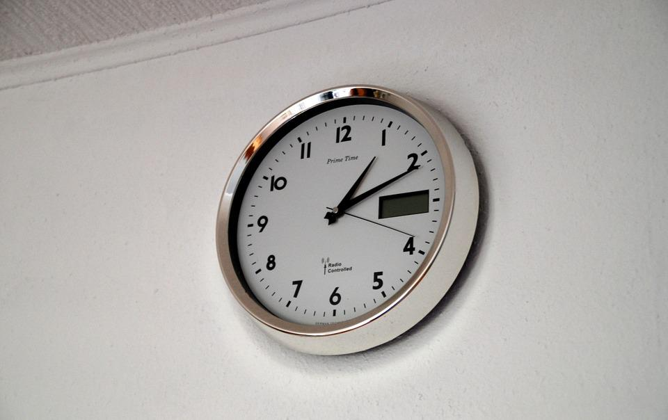 clock time time of wall clock pointer second