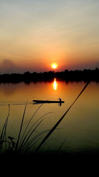 Mekong, Fiume, Laos, Vietnam, Acqua, Asia, Natura