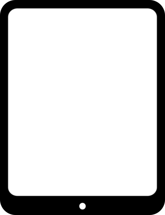 tablet clipart black and white. tablet pc, information technology, computer, clipart black and white e