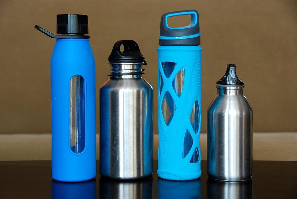 Botellas, El Agua, De Acero, Vidrio, Acero Inoxidable