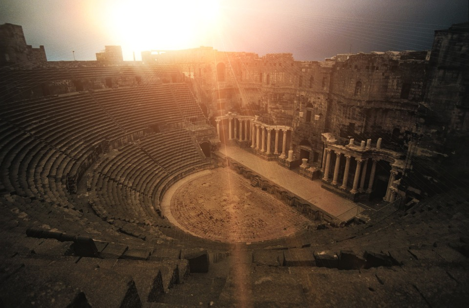Teatr Rzymski, Bosra, Syria, Amfiteatr, Rondel