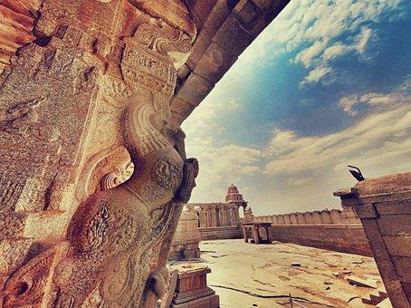 Lepakshi, アンドラ, Pr, プラデーシュ, インド, 寺, 彫刻