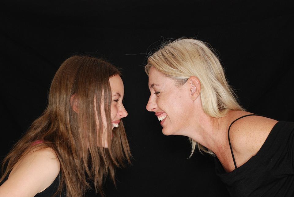 Laughter, Laugh, Fun, Mom, Daughter, Teenager, Family