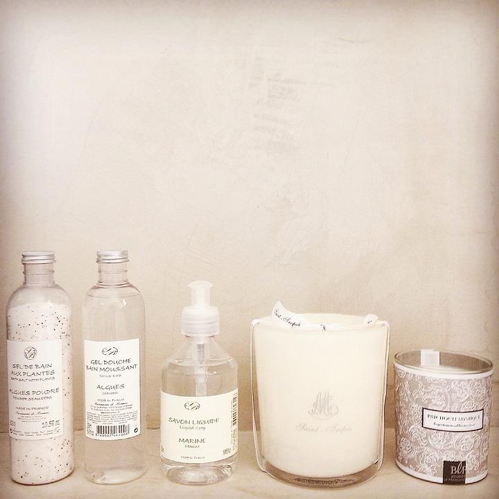 gratis foto: zeep, badkamer, producten, kaarsen - gratis, Badkamer