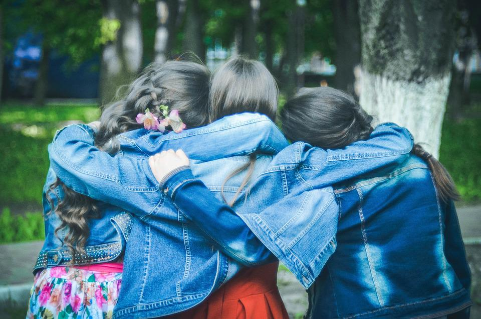 Amigos, Amizade, Meninas, Primavera, Infância