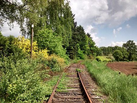 Spoorweg, Track, Rails, Railroad Tracks