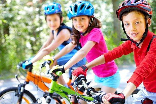 Fahrrad, Kinder, Radfahren, Pässe