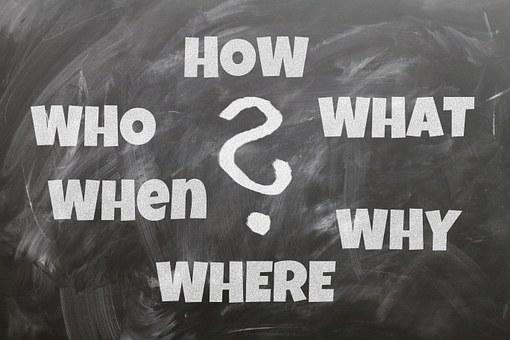 ボード, 質問, 誰, 何, どのように, なぜ, どこ, 通信手段, フォント