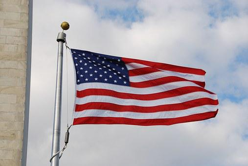 Flag, U S, America, Washington