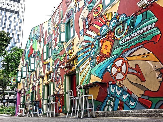 Free Photo Singapore Haji Lane Graffiti Free Image On