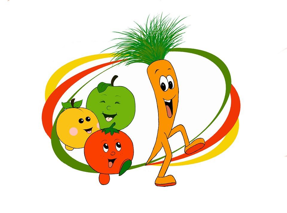 Free Illustration Carrot Vegetables Vitamins Apple