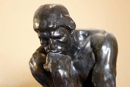 Think, Statue, Philosophy, Figure, Human