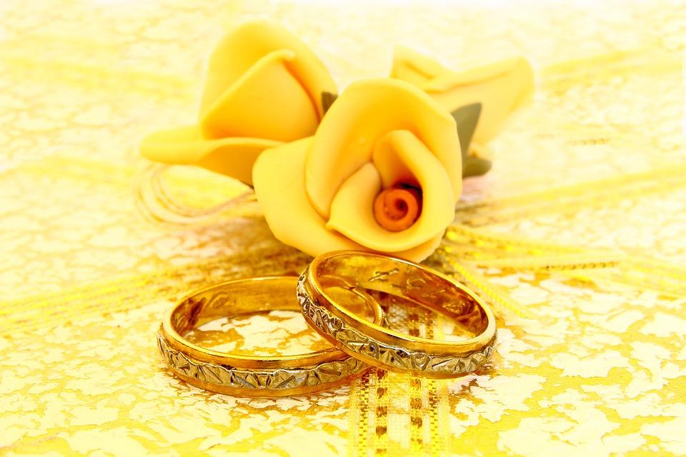 Alliances de mariage personnalisé, Amour, Or