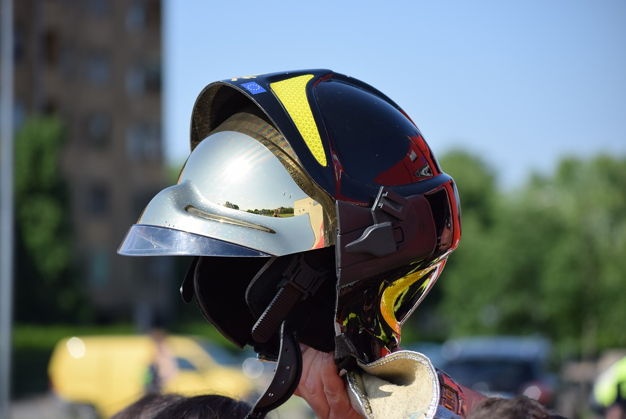 Firemen, Helmet, Visor