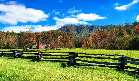 Homestead, Ranch, Fence, Split Rail