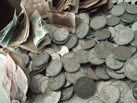 돈, 부자, 동전, 지폐