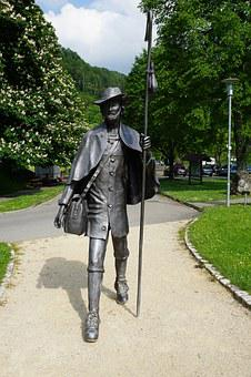 Wanderer, Statue, Beuron, Germany, Away