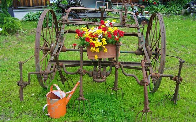 free photo old farm tool, iron garden decor  free image on, Garden idea