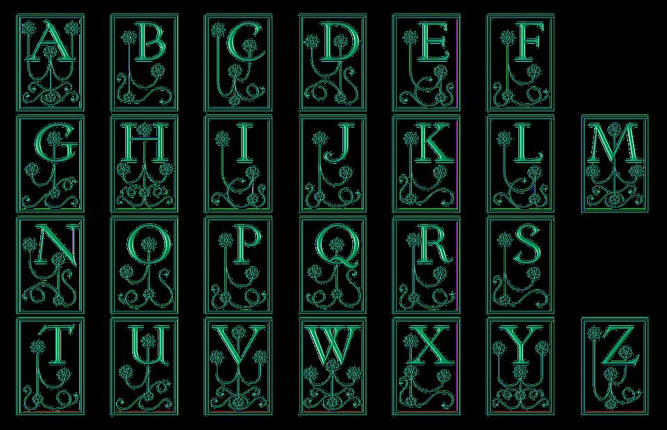 Alphabet Calligraphie Gratuit alphabet lettres typographie · image gratuite sur pixabay