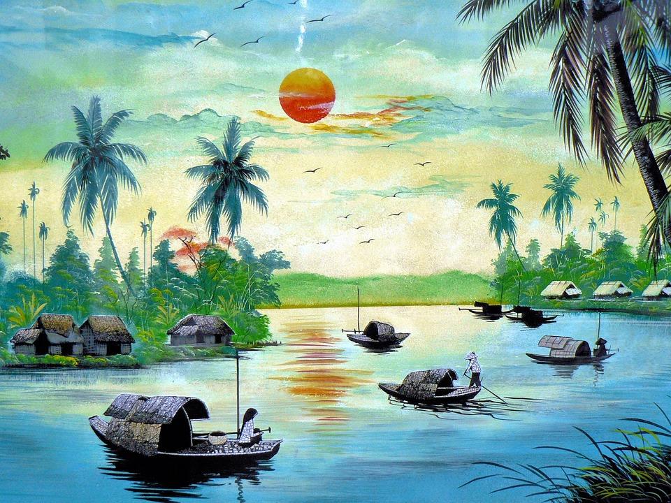 photo gratuite vietnam tableau paysage typique image gratuite sur pixabay 782962. Black Bedroom Furniture Sets. Home Design Ideas