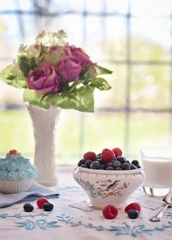 Blueberries Raspberries In Bowl Summer Bre & Table Setting Images · Pixabay · Download Free Pictures