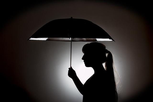 Umbrella Silhouette Woman