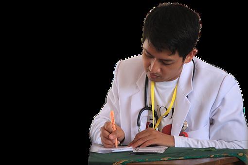 Läkare, Skriva Recept, Stilig Läkare