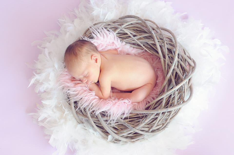 Baby, Sleeping Baby, Baby Girl, Newborn, Cute, Naked