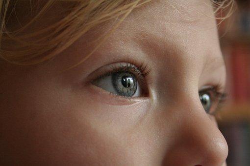 Auge, Gesicht, Suchen, Mädchen, Weiblich