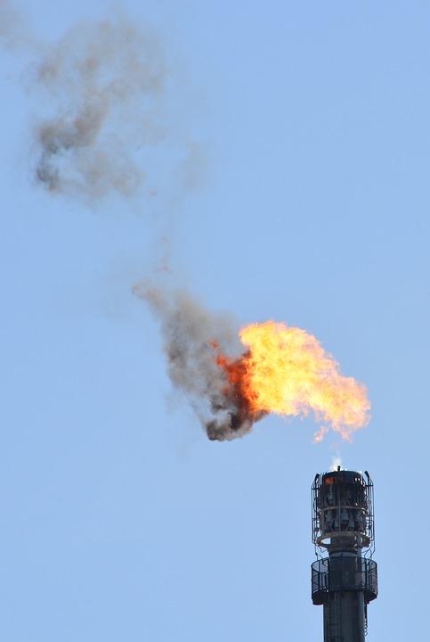 Petroquímica, Industria, Llama, Contaminación