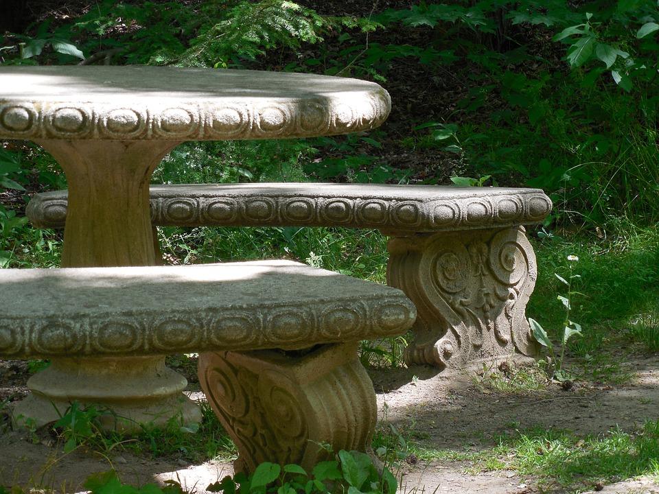 Concrete Picnic Table Picnic Table Park Bench