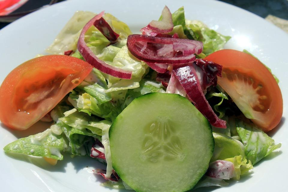 サラダ, 新鮮, 食品, ダイエット, 健康, 食事, 減量
