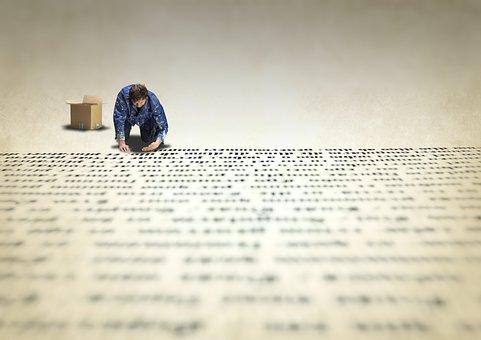 Type, Printer, Manual, Gutenberg, Work