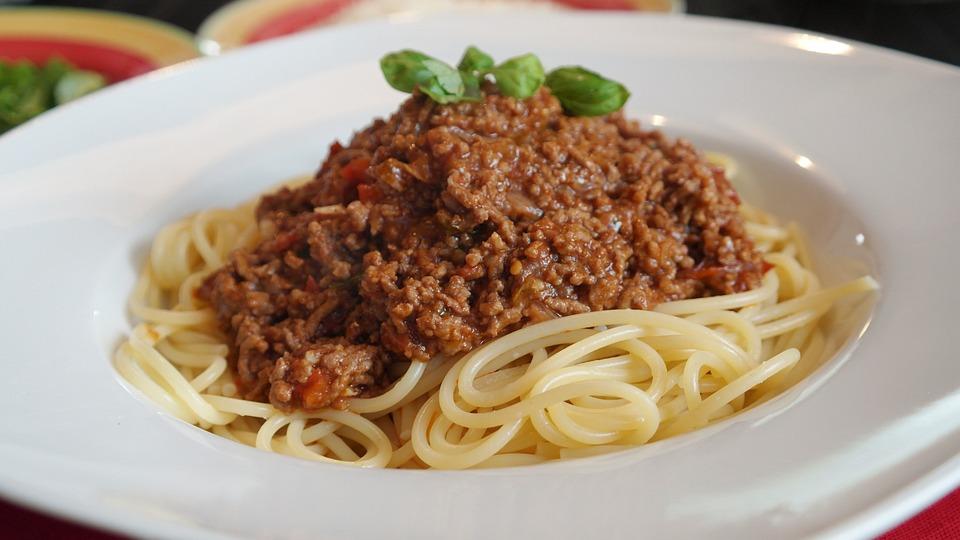 Spaghetti, Bolognese, Parmesan, Essen, Lebensmittel