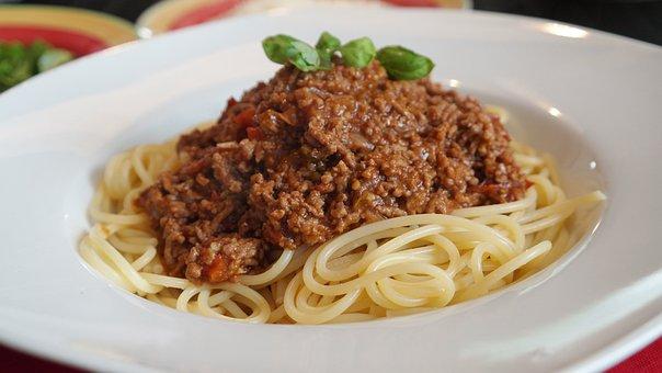 Spaghetti, Bolognese, Parmesan, Essen