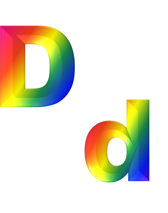 Letter d 3d free image on pixabay letter d 3d abc alphabet rainbow gradient bright thecheapjerseys Choice Image