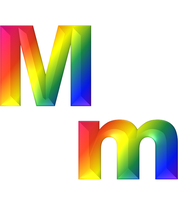 Letter m 3d free image on pixabay letter m 3d abc alphabet rainbow gradient bright thecheapjerseys Gallery