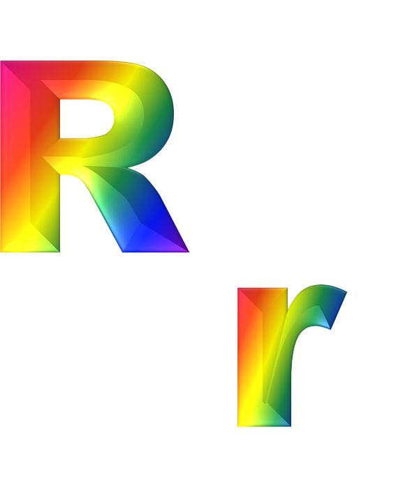 Letter, R, 3D, Abc, Alphabet, Rainbow, Gradient, Bright