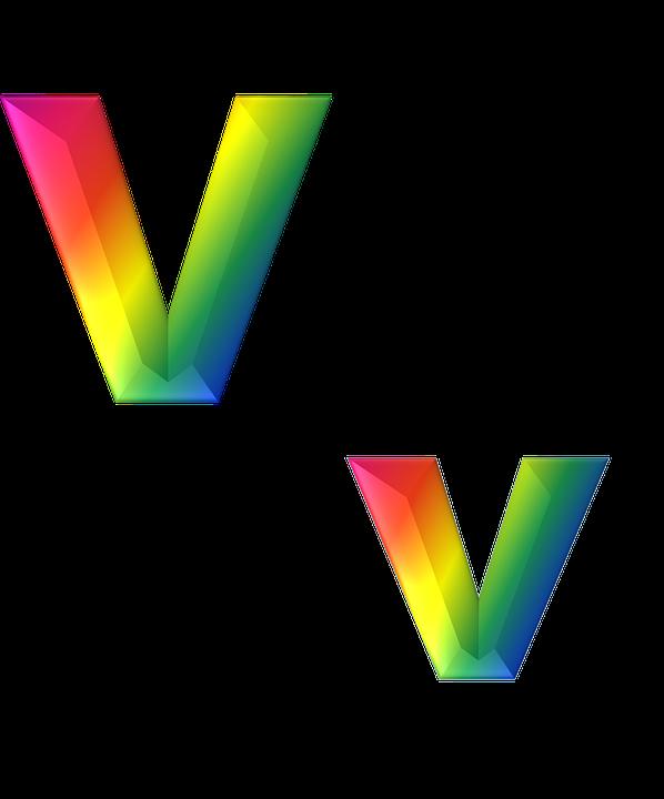 Lettre V 3D - Image gratuite sur Pixabay