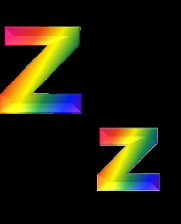 Letter Z 3d Abc Alphabet Rainbow Gradient Bright