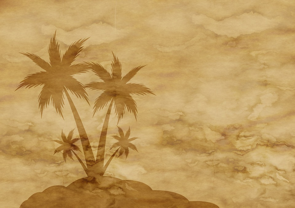 Kostenlose Illustration Papier Pergament Palme Insel