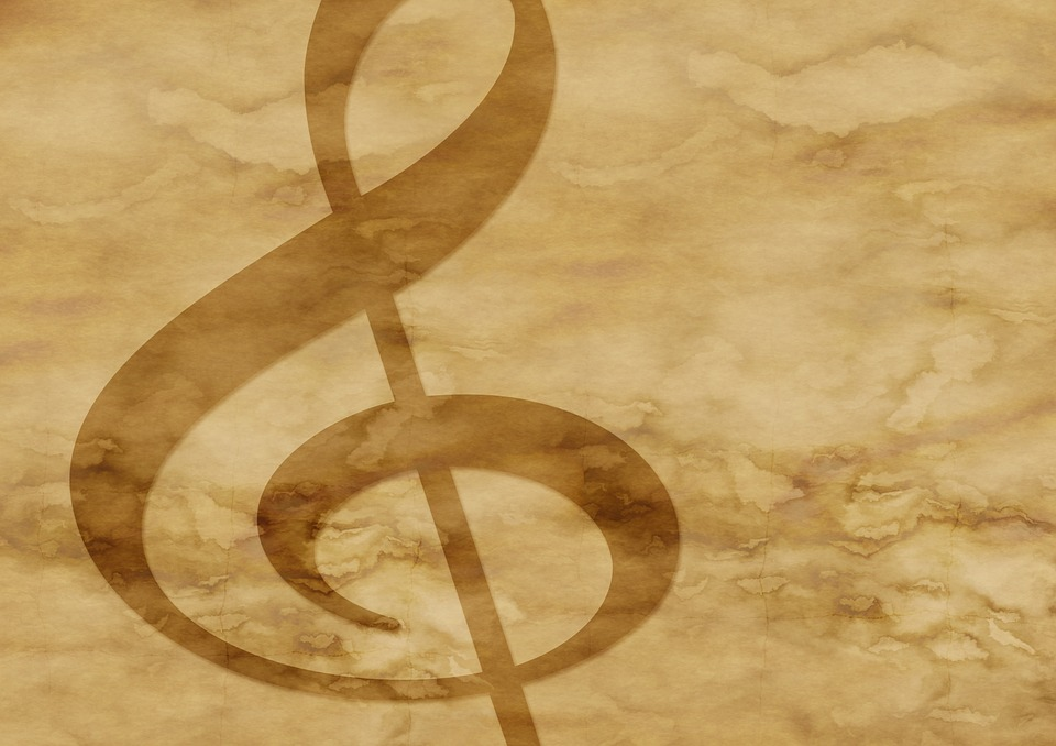 Free Illustration Paper Parchment Clef Music Free