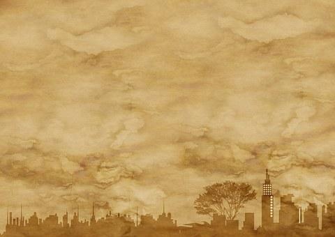 Paper Parchment City City View Skylin